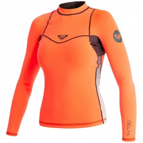 Roxy Women's Syncro 1mm Long Sleeve Jacket - Graphite/Peach