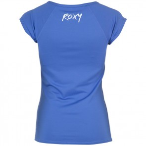 Roxy Women's Classic Short Sleeve Rash Guard - Chambray