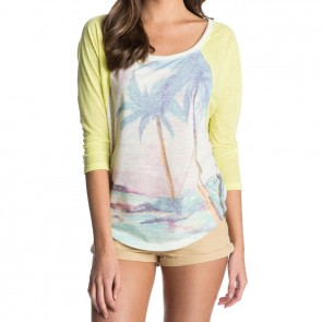 Roxy Women's Tropical Landscape Top - Limeade