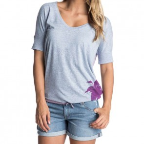 Roxy Women's Bleach Palms Top - Light Denim Heather