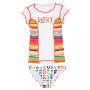 Roxy Wetsuits Toddler Sundown Rash Guard Set - Bright White