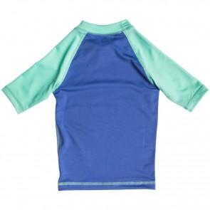 Roxy Wetsuits Toddler Sail Away Short Sleeve Rash Guard - Chambray/Sea Foam