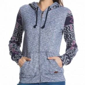 Roxy Women's Warm Up Zip Hoodie - Peacoat