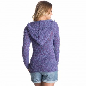 Roxy Women's Warm Heart Sweater - Light Denim