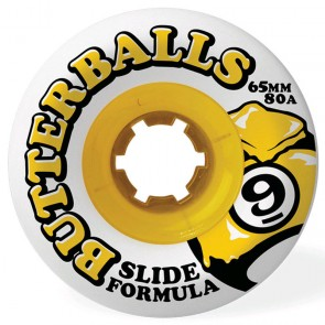 Sector 9 - 65mm Butterballs Wheels - White