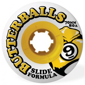 Sector 9 - 70mm Butterballs Wheels - White