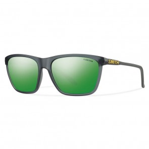 Smith Delano Sunglasses - Matte Smoke/Green Sol-X