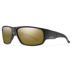 Smith Discord Polarized Sunglasses - Matte Black/Chromapop Bronze Mirror