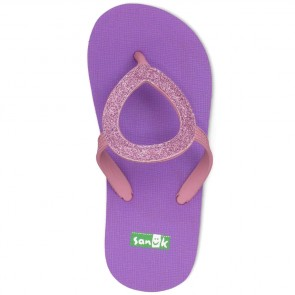 Sanuk Youth Ibiza Sparkle Sandals - Purple