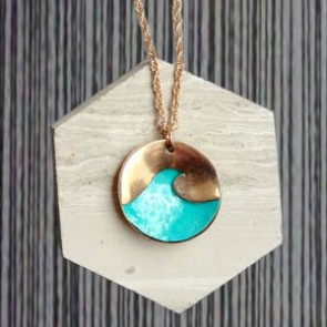 S1W Handmade Textured Wave Necklace