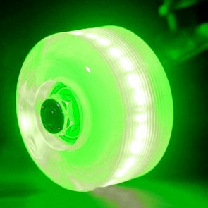 Sunset Skateboards - 54mm Flare Street LED Wheels - Green