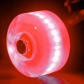 Sunset Skateboards - 54mm Flare Street LED Wheels - Red