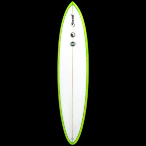 Stewart Surfboards - 8'0'' Funboard Comp Surfboard - Green Swirl