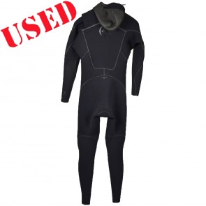 USED Quiksilver Cypher 5/4/3 Hooded Chest Zip Wetsuit - Size M