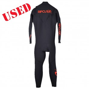 USED Rip Curl E-Bomb Pro 4/3 Zip Free Wetsuit - Size XLS