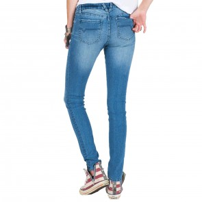 Volcom Women's Super Stoned Skinny Jeans - Worn Wash
