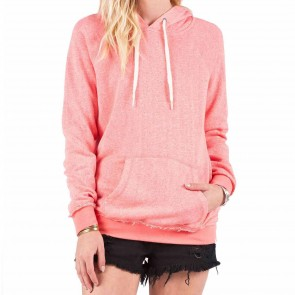 Volcom Women's Lived In Hoodie - Electric Coral