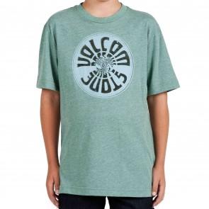 Volcom Youth Wax On T-Shirt  - Grass Green