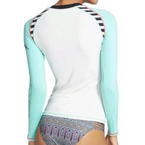 Volcom Women's Simply Solid Long Sleeve Rash Guard - White