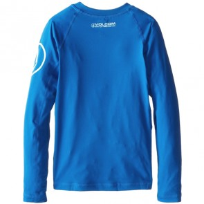 Volcom Youth Solid Long Sleeve Rash Guard - Baja Indigo