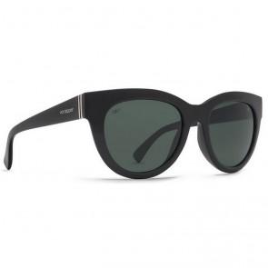 Von Zipper Women's Queenie Polarized Sunglasses - Black Gloss/Grey Poly