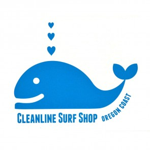 Cleanline Surf Whale Tail Sticker