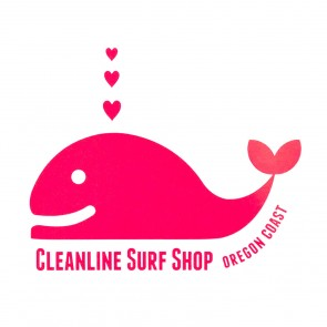 Cleanline Surf Whale Tail Sticker - Pink