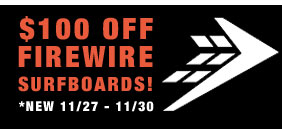 $100 Off Firewire Surfboards